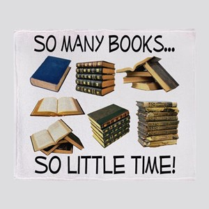 So Many Books... Throw Blanket